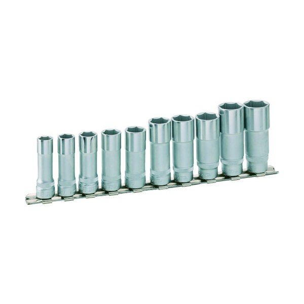 HAZET(ハゼット) HAZET ディープソケットセット(6角タイプ・差込角9.5)レール付 880LG10H 1セット 437-8903(直送品)