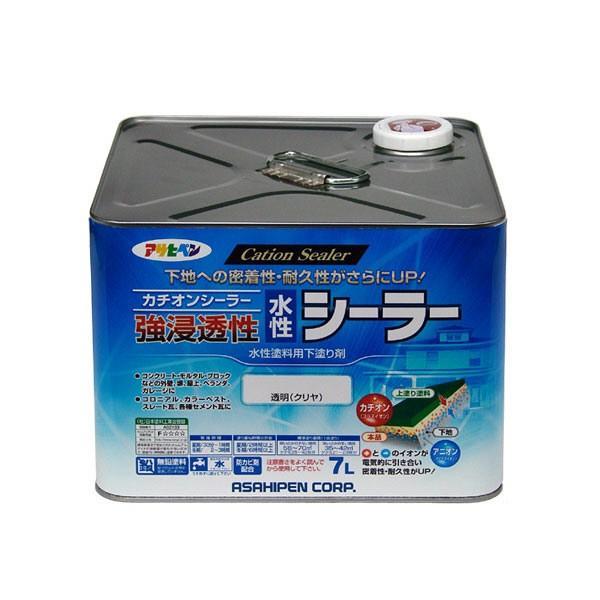 アサヒペン 強浸透性水性シーラー 7L 透明(クリヤ) (直送品)