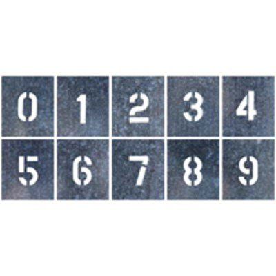 つくし工房 吹付プレート 特大サイズ 「数字(0〜9)」 J-91D 10枚組 (直送品)
