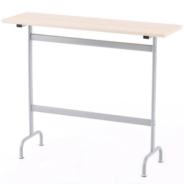 アールエフヤマカワ ハイテーブル ナチュラル 幅1200×奥行400×高さ1000mm 幅1200×奥行400×高さ1000mm 1台(直送品)