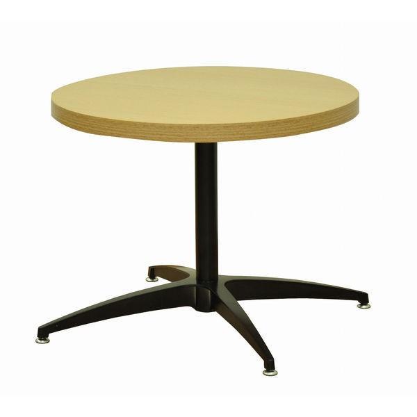 エイ・アイ・エス ソファテーブル丸 天板ナチュラル×脚ブラック 直径600×高さ470mm CFK-CI430set NA/BK 1台(直送品)