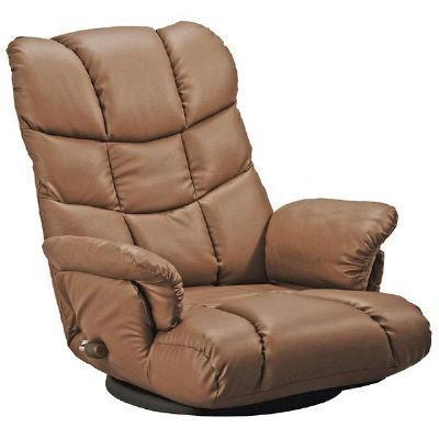 宮武製作所 スーパーソフトレザー座椅子-神楽- ブラウン ブラウン (直送品)