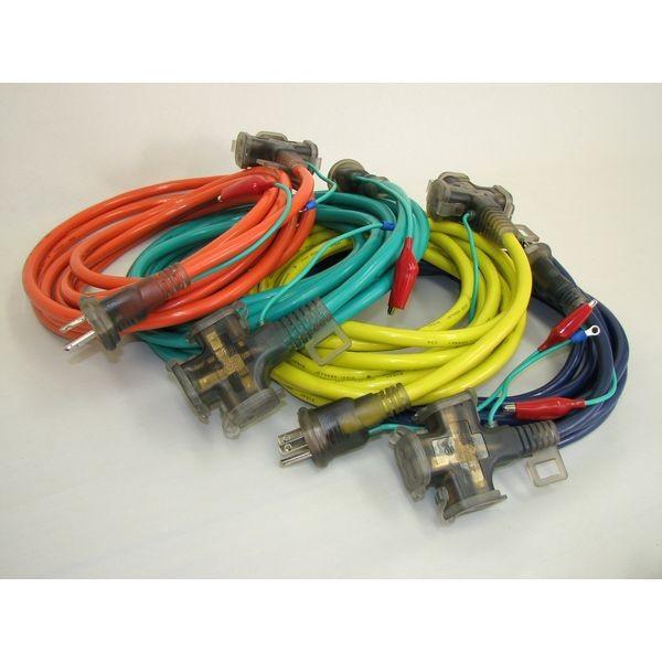 オレピン延長コード2芯・3芯兼用タイプ10m 4色アソートセット品 OP-10YBGO OP-10YBGO 1セット(12本入:4色×各3本) 熱田資材(直送品)