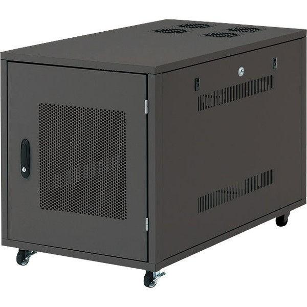 サンワサプライ 19インチサーバーボックス(12U) ブラック 幅570×奥行700×高さ700mm CP-SVNC5 1台(直送品)