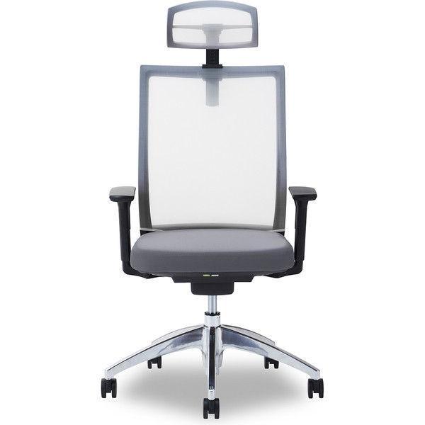 関家具 オフィスチェア オフィスチェア Air01-ヘッドWH/ハンガー無/背WH/肘可動/座GY グレイ 238349 1脚 (直送品)