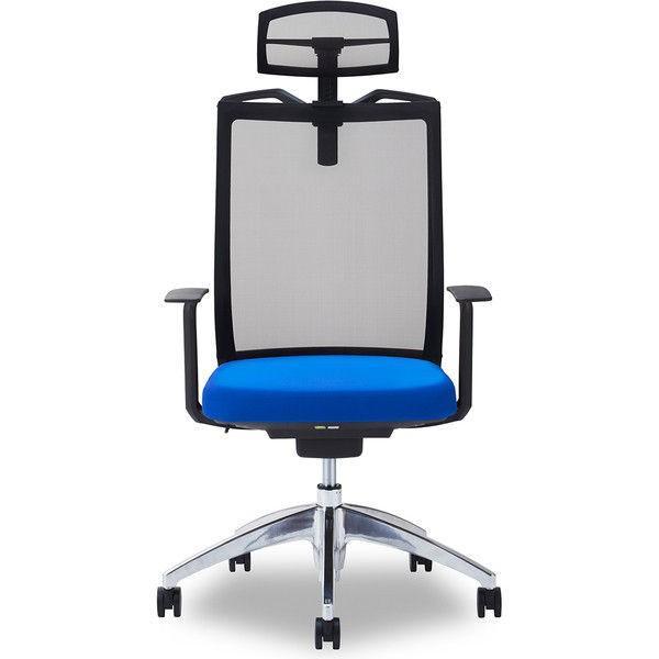 関家具 オフィスチェア オフィスチェア Air01-ヘッドBK/ハンガー有/背BK/肘固定/座BL ブルー 238412 1脚 (直送品)