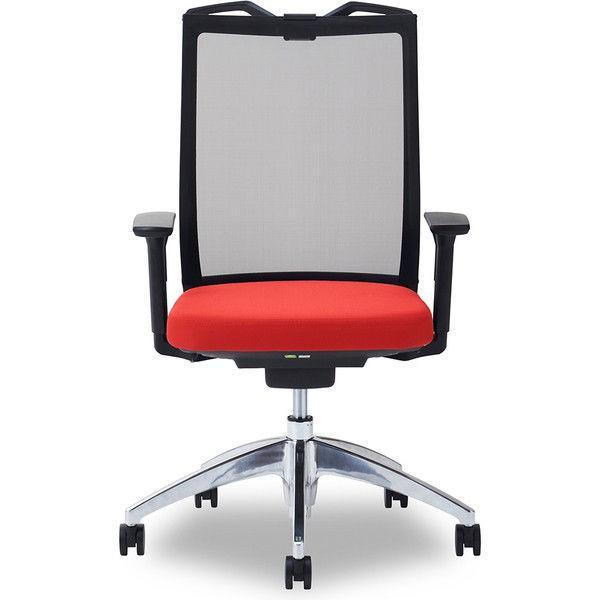 関家具 オフィスチェア オフィスチェア Air01-ヘッド無/ハンガー有/背BK/肘可動/座RD レッド 238494 1脚 (直送品)