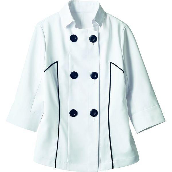 住商モンブラン ジャケット レディス 7分袖 ホワイト/ 5号 BW8001-2(直送品)