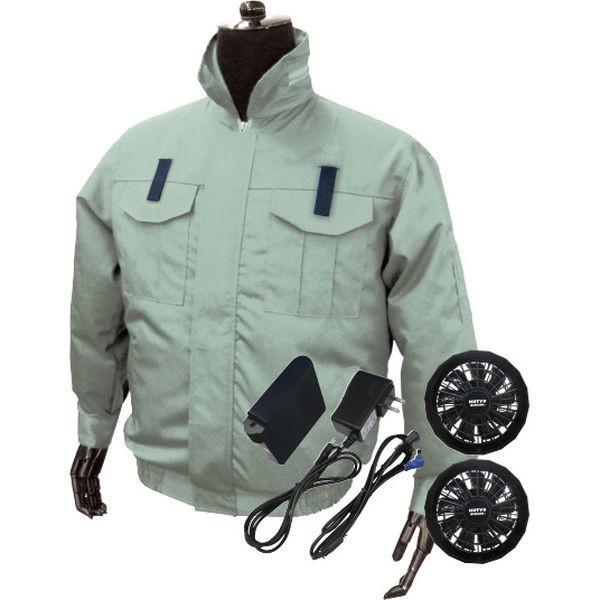 ブレイン 空調エアコン服ハーネス/フルセット(ライトグリーン)XLサイズ BR-588-LGXL(直送品)
