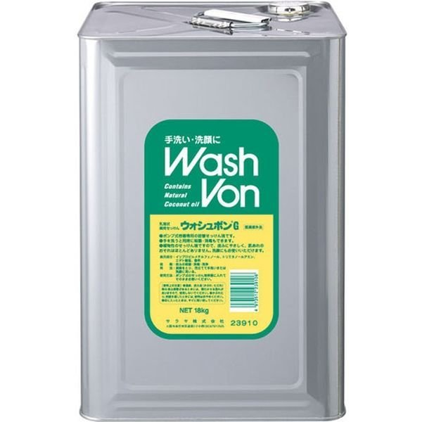 サラヤ 手洗い石けん液 ウオッシュボンG 18kg (八角BIB) 090131 3個(直送品)