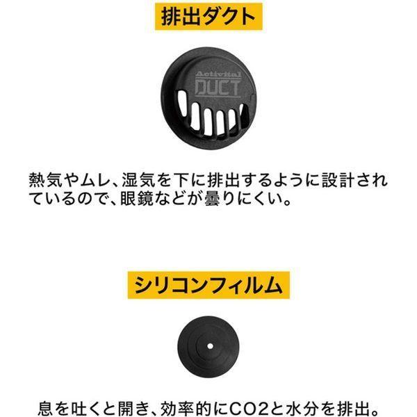 グッズマン 排気ダクト付き ウレタンマスク ダクトマスク ブラック 7298 1セット(10入)(直送品)|y-lohaco2|06