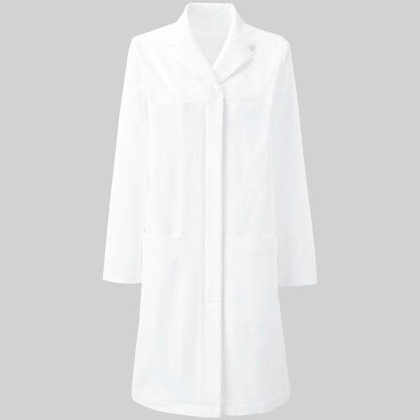 YUKISABURO WATANABE レディスドクターコート YW25 ホワイト S KAZEN(カゼン) 医療白衣 1枚(直送品)
