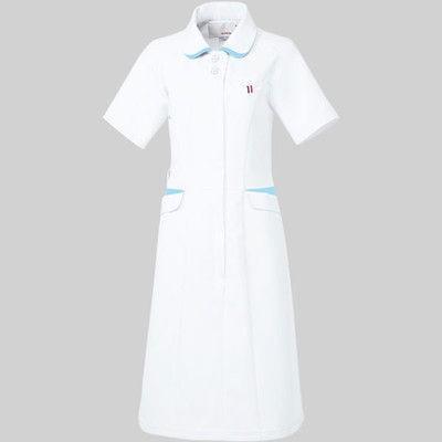 ルコックスポルティフ ワンピース UQW0040 ホワイト×アクア S 医療白衣 1枚 (直送品)