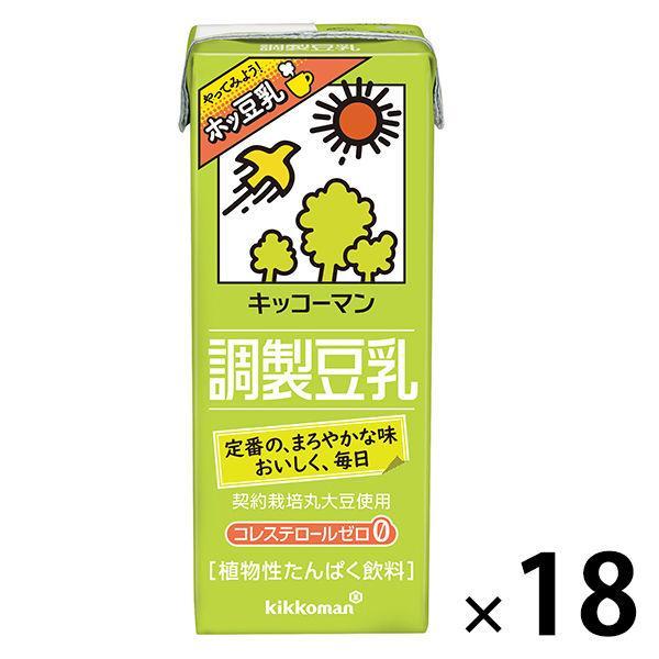 ついに再販開始 並行輸入品 キッコーマン 調製豆乳 200ml 18本入 1箱