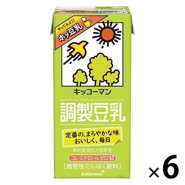 キッコーマン 調製豆乳 即納送料無料 1000ml 1箱 保障 6本入