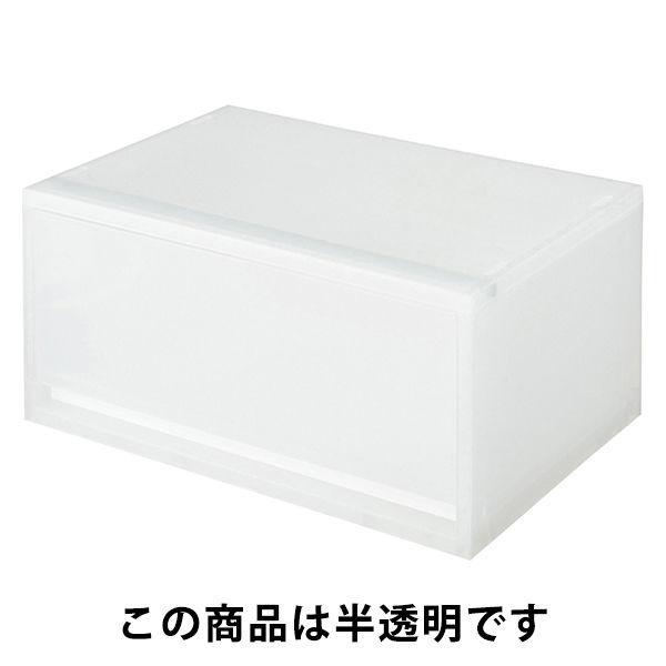 無印良品 ポリプロピレンケース引出式・横ワイド・深型 1個 約幅37×奥行26×高さ17.5cm 15253791 良品計画