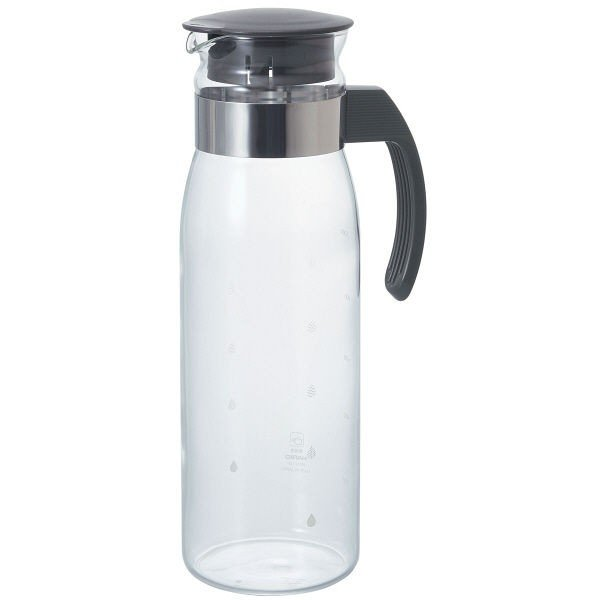 HARIO 耐熱ガラス製 売り出し 高級品 冷水筒 ポット ピッチャー チャコールグレー 1個 スリムN RPLN-14-CGR 1400ml
