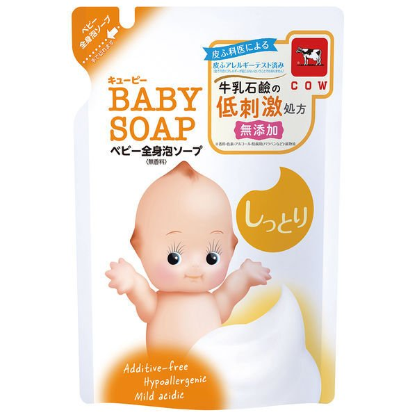5☆好評 キューピー ベビー全身泡ソープ しっとり 詰替 新登場 350ml 牛乳石鹸共進社 赤ちゃん用 低刺激 1個 乾燥