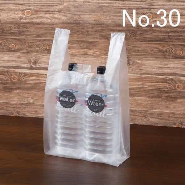 アスクル 返品不可 レジ袋 市販 半透明タイプ 30号 100枚入 1袋