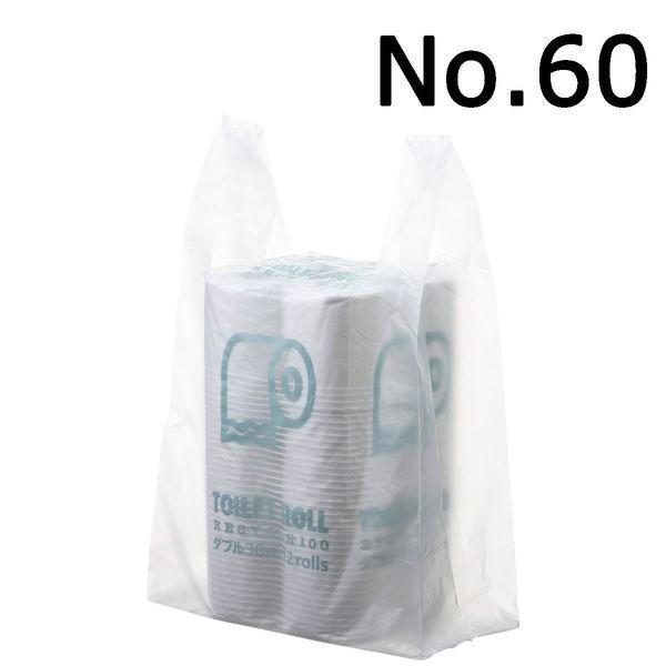 ストア アスクル レジ袋 流行のアイテム 半透明タイプ 60号 1袋 100枚入