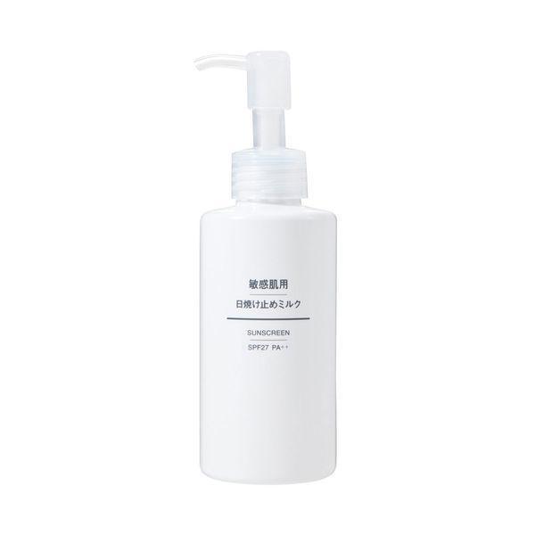 無印良品 敏感肌用日焼け止めミルク SPF27 PA++ 5252589 出色 良品計画 150mL 直営ストア