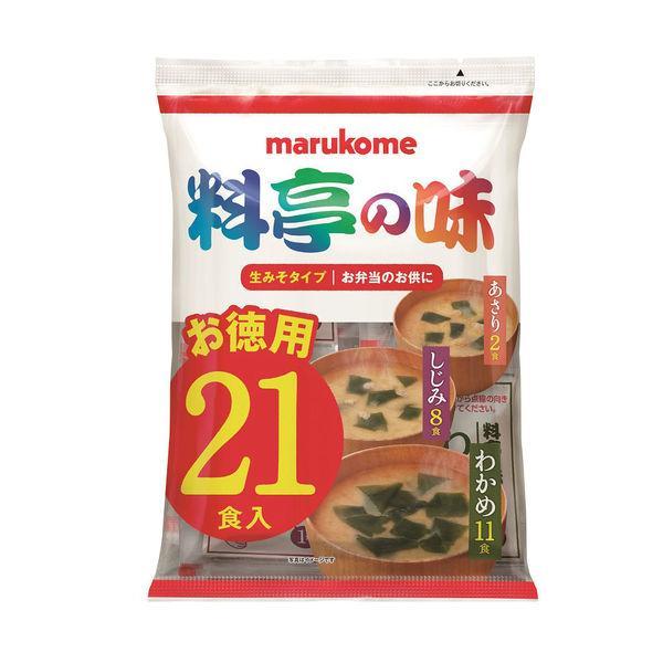 商品 品質保証 インスタント 生みそ汁料亭の味 お徳用 マルコメ 1袋 21食入