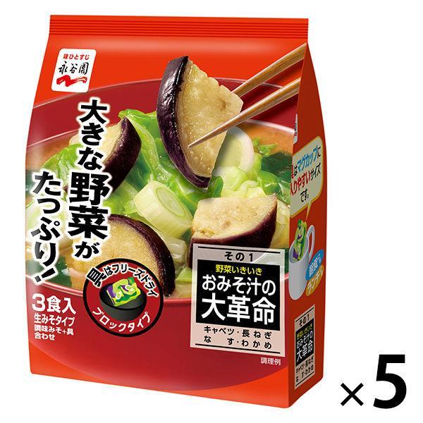 永谷園 おみそ汁大革命 野菜いきいき その1 5袋