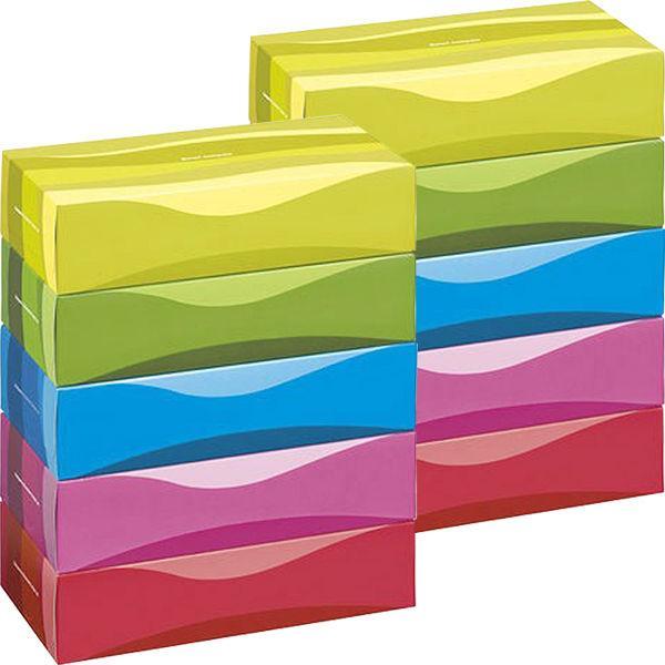 業界No.1 ティッシュペーパー 150組 5箱入 オリジナルティッシュスマートコンパクトビビッドカラー 売り込み 2パック 1セット アスクル