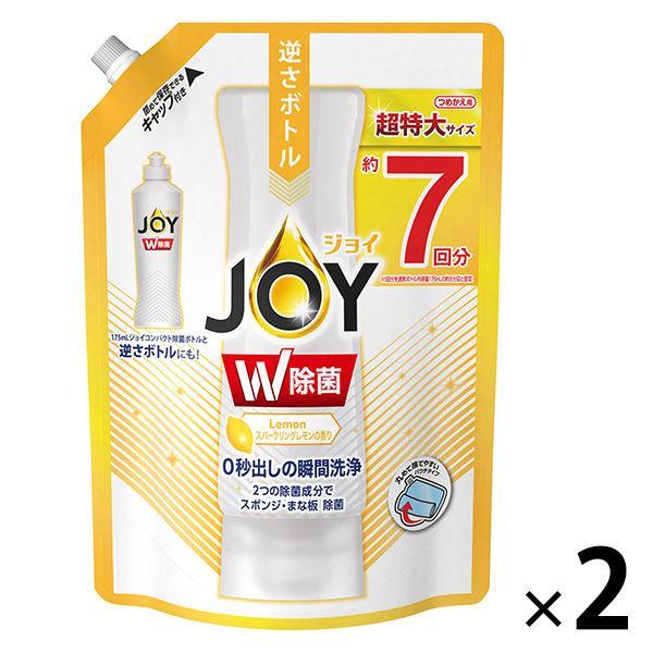 除菌ジョイコンパクト JOY スパークリングレモンの香り 詰め替え 超特大 激安通販 960ml G 2個入 1セット 食器用洗剤 割引 P