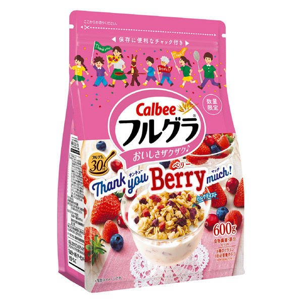フルグラ Thank you Berry レビューを書けば送料当店負担 much 1袋 シリアル グラノーラ 割引も実施中 カルビー 600g
