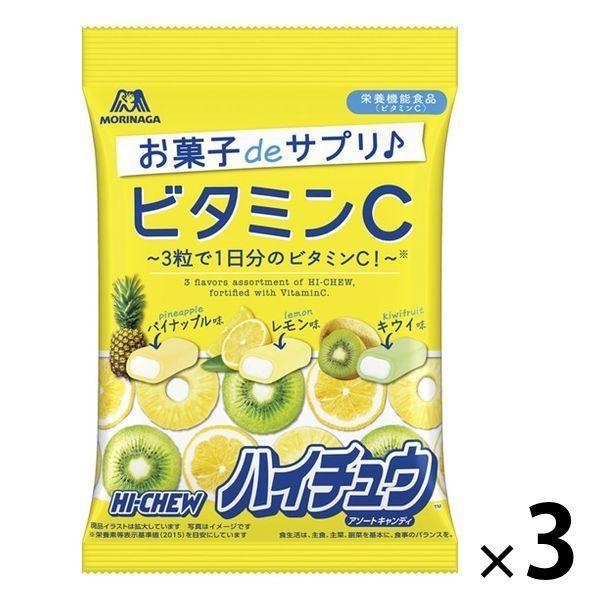 ビタミンCハイチュウアソート 3袋 森永製菓 キャンディ 期間限定特価品 数量限定 お菓子