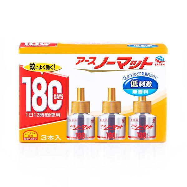 アースノーマット 取替ボトル 180日 無香料 詰め替え 1個(3本入) 蚊取り器 アース製薬