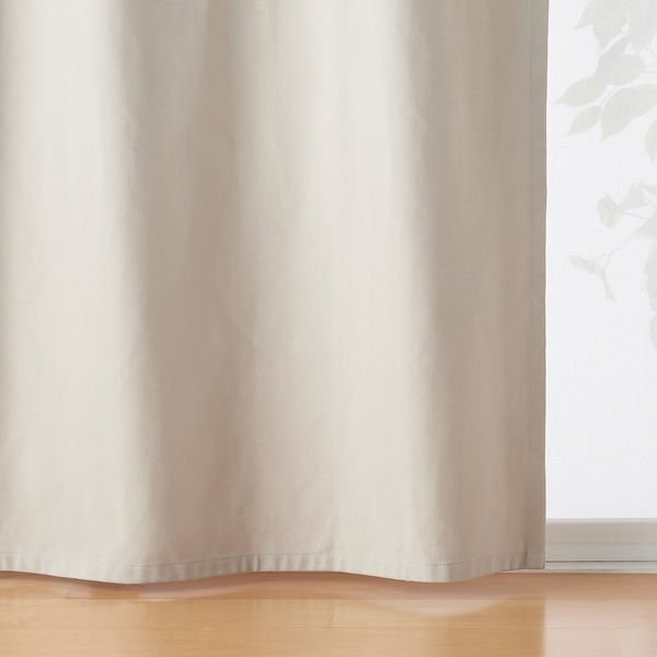 無印良品 綿太番手ツイル 遮光性 ノンプリーツカーテン 良品計画 ベージュ 毎日激安特売で 営業中です 幅100×丈135cm用 爆買いセール