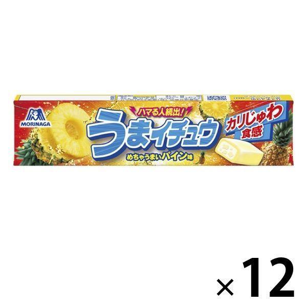 森永製菓 うまイチュウ パイン味 ソフトキャンディ 12本 配送員設置送料無料 ハイチュウ 全国一律送料無料