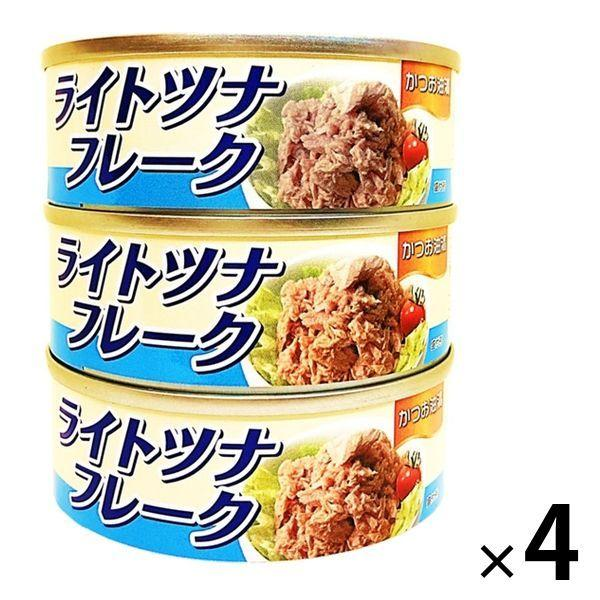 ※アウトレット品 アウトレット 日本産 ライトツナフレーク かつお油漬 70g タイランドフィッシャリージャパン 12缶:3缶入×4個 1セット