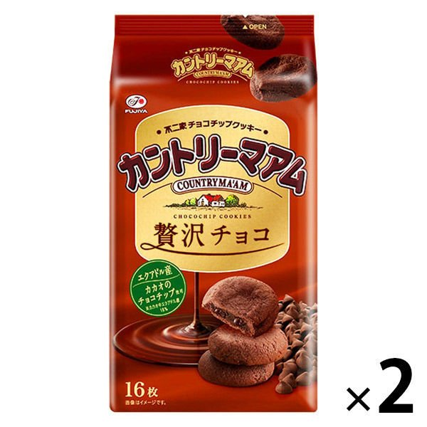 不二家 カントリーマアム 至上 贅沢チョコ 2袋 公式ショップ ビスケット おやつ お菓子 クッキー