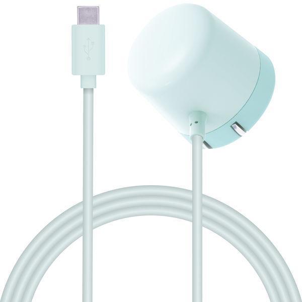 アウトレット エレコム スマホタブレット充電器 タイプCケーブル一体型 1.5A 1.5m セール特価 ライトブルー 1個 まとめ買い特価 MPA-ACC14LB