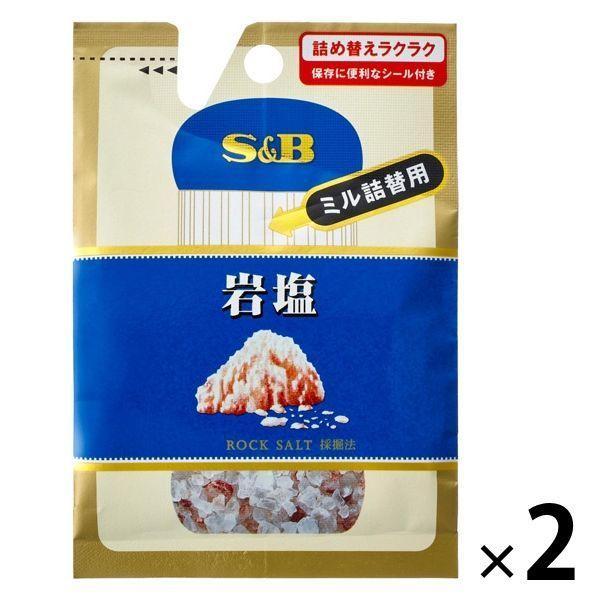 エスビー食品 S B 舗 2個 新作製品、世界最高品質人気! 袋入り岩塩 ミル詰め替え用