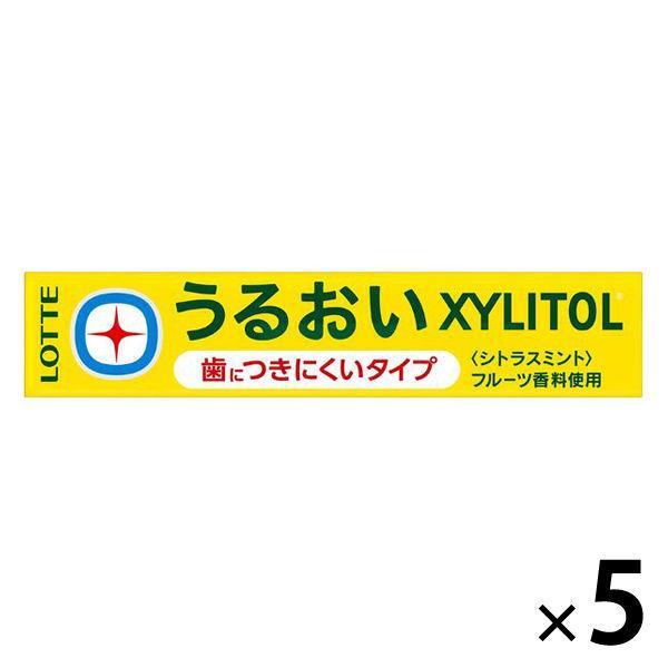 アウトレット ロッテ うるおいキシリトールガム 初売り 14粒入×5個 シトラスミント 評判 1セット