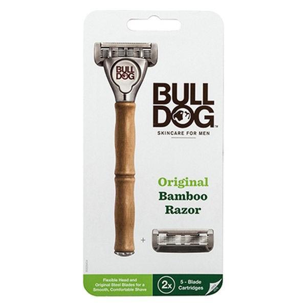 BULLDOG ブルドッグ 髭剃り オリジナル 替刃2コ付 特価品コーナー☆ お得なキャンペーンを実施中 バンブーホルダー +
