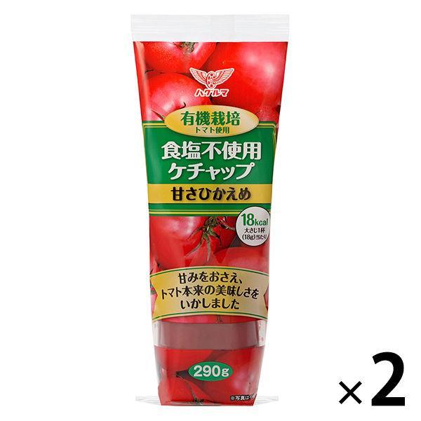 ハグルマ 発売モデル [再販ご予約限定送料無料] 有機栽培トマト使用 食塩不使用 290g ヘルシーケチャップ 2本