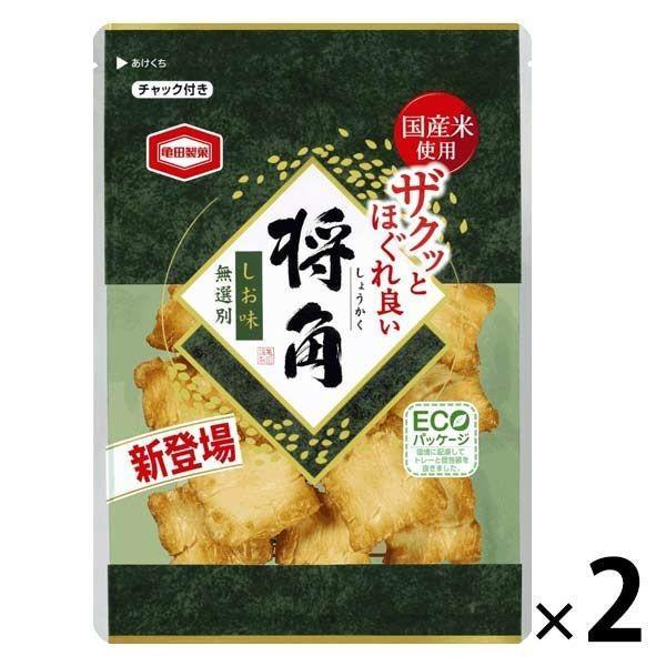 激安卸販売新品 亀田製菓 将角 しお味 2袋 専門店 105g
