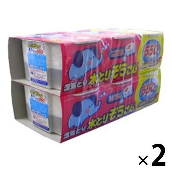 水とりぞうさん [再販ご予約限定送料無料] 置き型 3-6ヵ月 受注生産品 550ml×6個パック ×2セット 除湿剤 オカモト