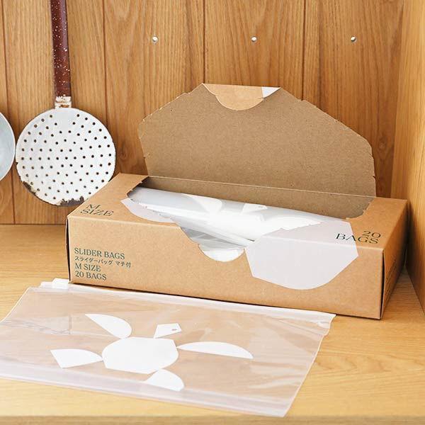 スライダーバッグ マチ付き 冷蔵 大幅値下げランキング 冷凍対応 Mサイズ メーカー公式 B5ヨコサイズがピッタリ入る LOHACO オリジナル 20枚入 1箱 ロハコ