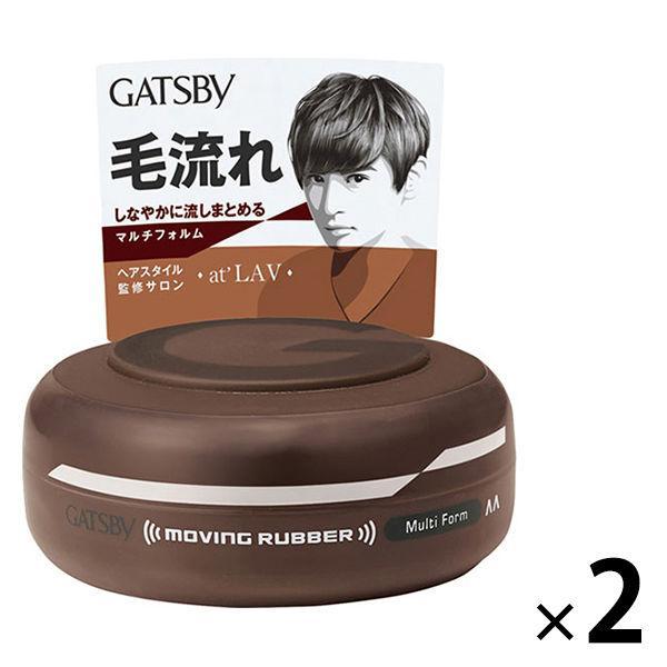 GATSBY ギャツビー ヘアワックス ムービングラバー マルチフォルム 新作入荷!! メンズ スタイリング 2個 微香性 80g マンダム 整髪料 使い勝手の良い