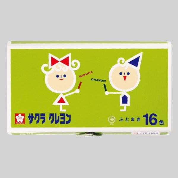 買物 サクラクレパス クレヨン 太巻 新作販売 16色 BLY16 ボタン付ケース