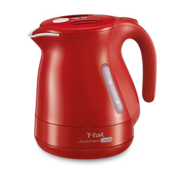 T-fal ティファール 電気ケトル ジャスティン プラス ロック KO4415JP オーバーのアイテム取扱☆ コーヒー レッド 紅茶 1.0L 特価品コーナー☆ おしゃれ