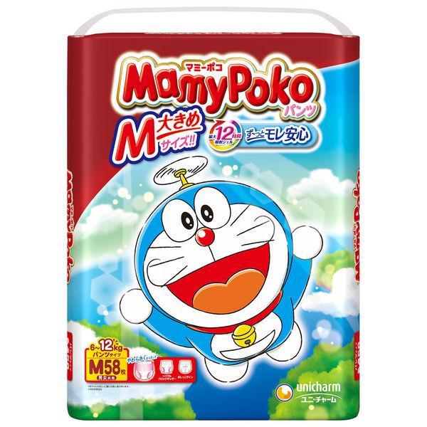 マミーポコ マーケット 低廉 おむつ パンツ M 6〜12kg 58枚入 1パック ユニ チャーム ドラえもん