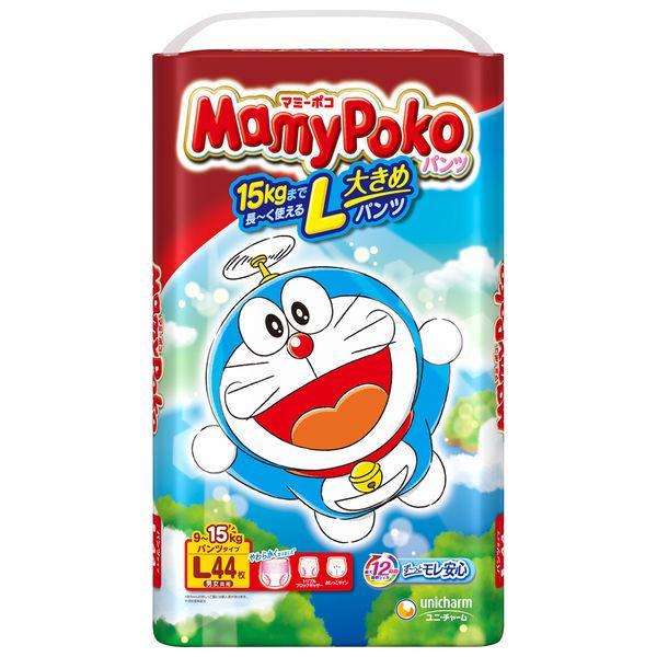 マミーポコ おむつ 割引 パンツ L 9〜15kg ドラえもん 1パック 44枚入 ユニ 新色追加して再販 チャーム