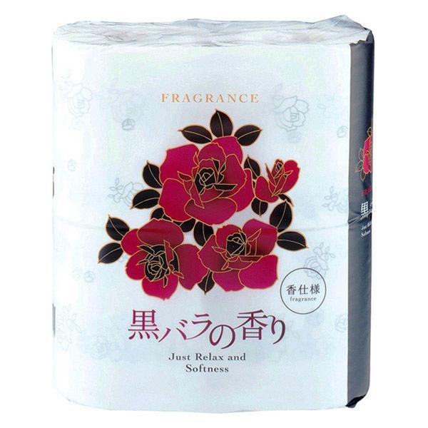 トイレットペーパー 4ロール 無料 パルプ ダブル 黒バラの香り 30m 激安セール 1パック 四国特紙